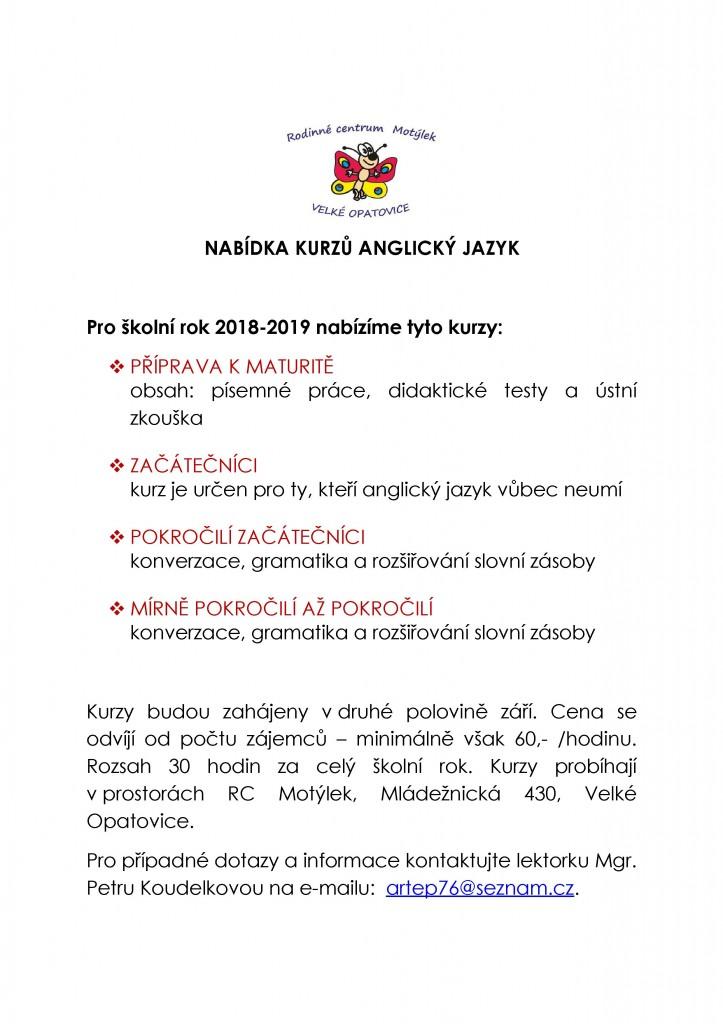 NABÍDKA+KURZŮ+ANGLICKÝ+JAZYK 2018-2019