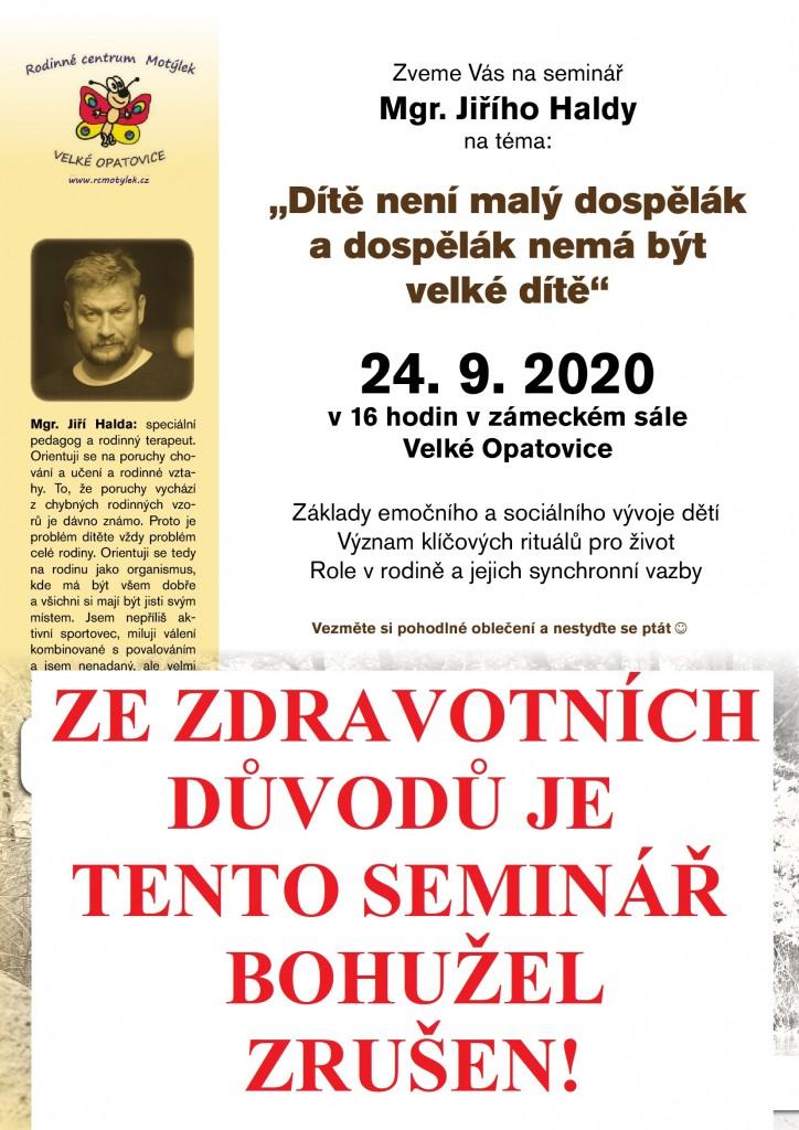 PŘEDNÁŠKA - HALDA - ZRUŠENO