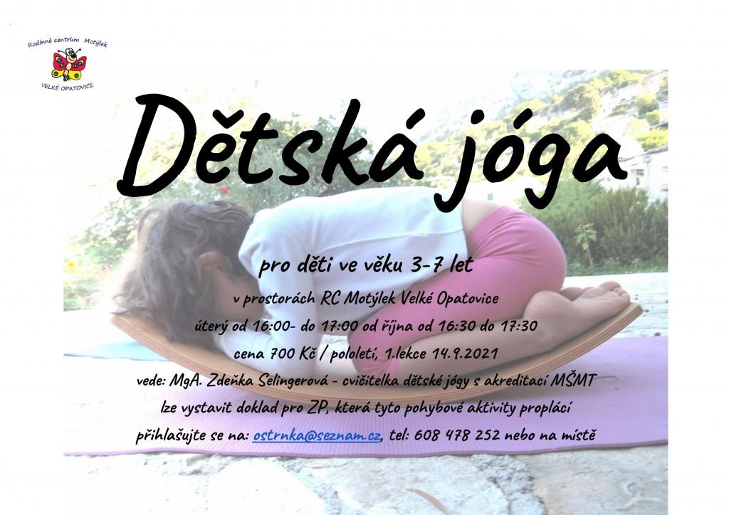_Plakát-dětská-jóga-Motýlek-VO 2021
